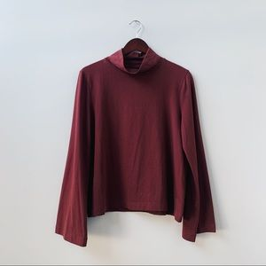 Madewell Relaxed Mock Neck Cotton Top